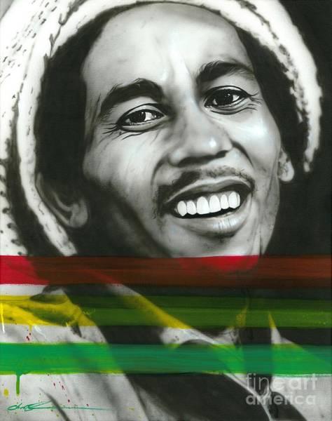 Reggae Painting - Marley by Christian Chapman Art