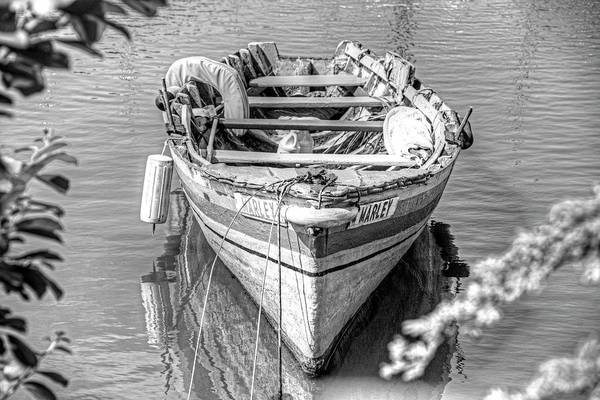 Photograph - Marley Rowboat Rodney Bay Saint Lucia Black And White by Toby McGuire