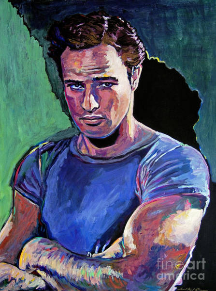 Wall Art - Painting - Marlon Brando by David Lloyd Glover