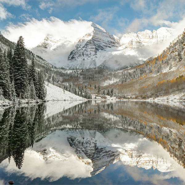 Photograph - Maroon Bells - Aspen Colorado 1x1 by Gregory Ballos