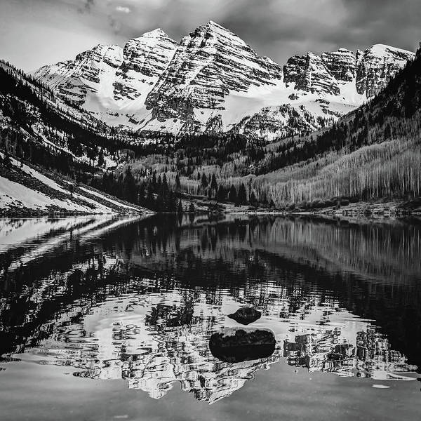 Photograph - Maroon Bells In Bw by Gregory Ballos