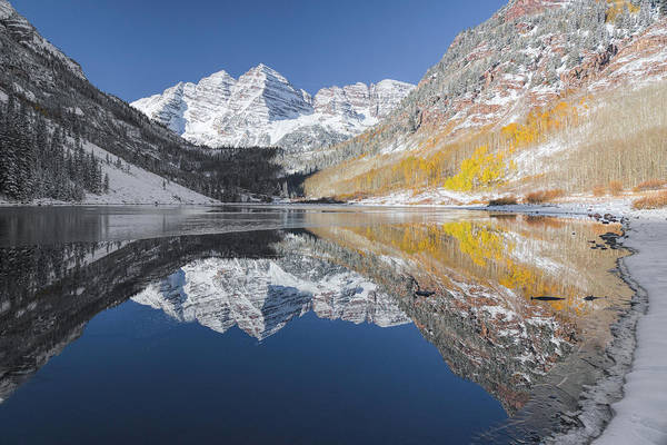 Photograph - Maroon Bells Mirror by Jemmy Archer