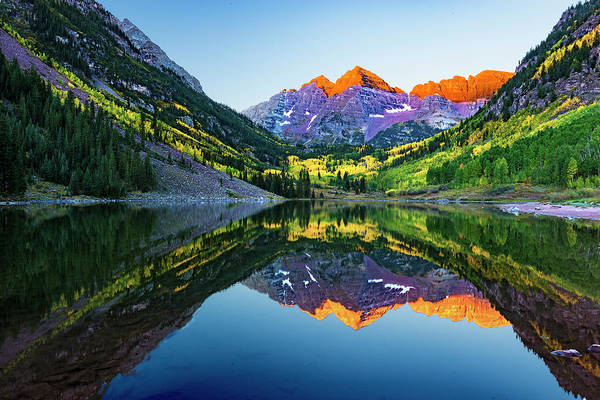 Photograph - Maroon Bells by Norman Hall