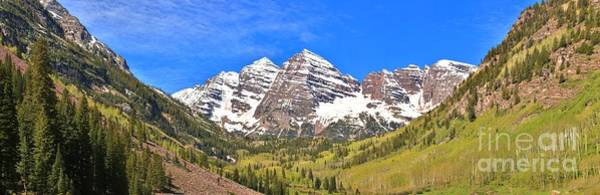 Photograph - Maroon Bells Peaks Panorama by Adam Jewell