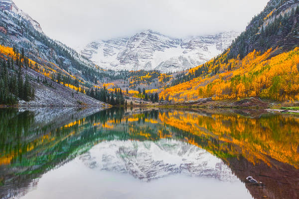 Bell Photograph - Maroon Bells Seasonal Clash by Darren White