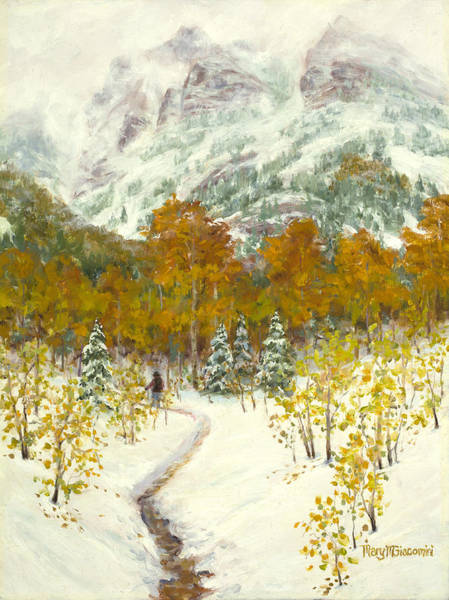 Painting - Maroon Bells-snowmass Wilderness Trek by Mary Giacomini