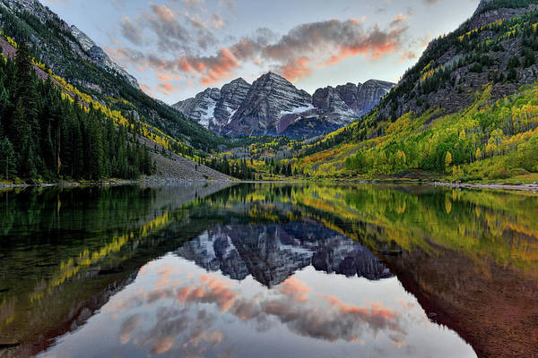 Photograph - Maroon Bells Sunset by Mark Whitt