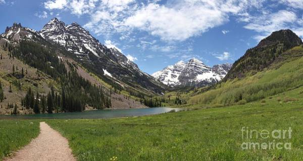 Photograph - Maroon Bells Wilderness Panorama by Adam Jewell