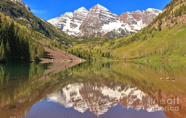 Photograph - Maroon Bells Wilderness Reflections by Adam Jewell