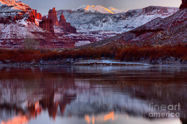 Fisher Towers Photograph - Maroon Fisher Towers by Adam Jewell