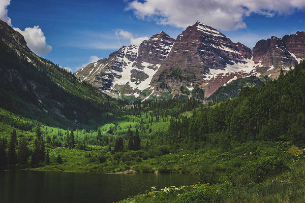 Photograph - Maroon Lake And Maroon Bells by Andy Konieczny
