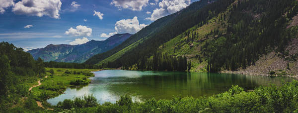 Photograph - Maroon Lake Panorama by Andy Konieczny