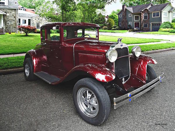 Photograph - Maroon Vintage Car by Susan Savad