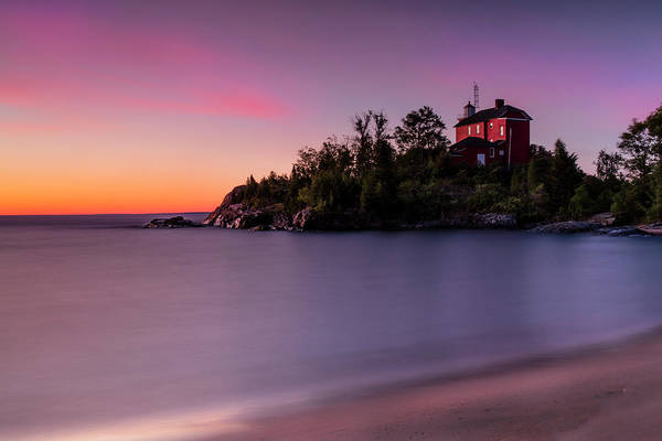 Photograph - Marquette Lighthouse by CA Johnson