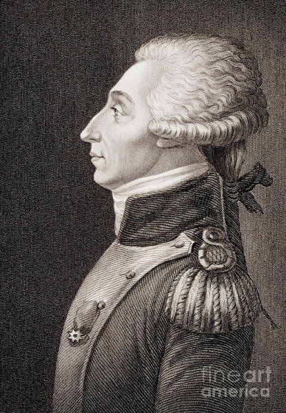 Brandywine Wall Art - Drawing - Marquis De Lafayette by American School