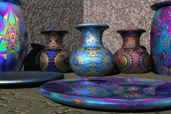 Jug Digital Art - Marrakesh Open Air Market by Lyle Hatch