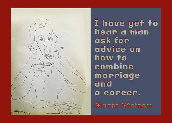 Wall Art - Drawing - Marriage Advice by Peggy Lipschutz
