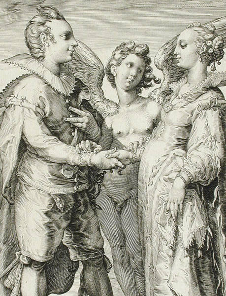 Pleasure Drawing - Marriage For Pleasure by Jan Saenredam