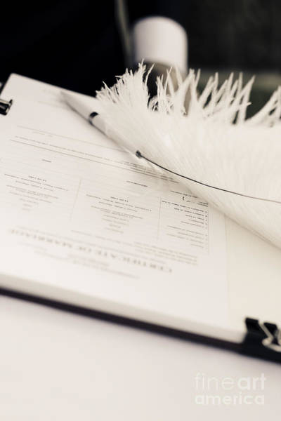 Vows Photograph - Marriage Register by Jorgo Photography - Wall Art Gallery