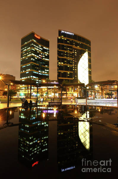 Photograph - Marriott Hotel Reflections Lima Peru by James Brunker