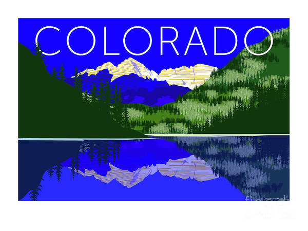 Digital Art - Maroon Bells Day by Sam Brennan