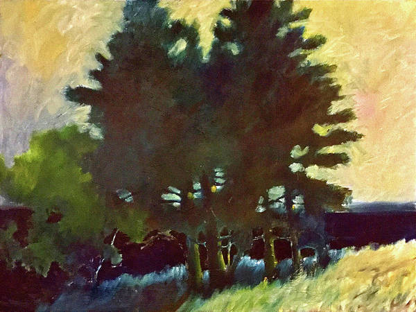 Port Townsend Painting - Marrowstone Island Trees by James Murphy