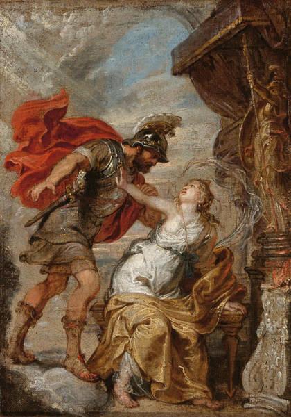 Rhea Painting - Mars And Rhea Sylvia by Follower of Peter Paul Rubens