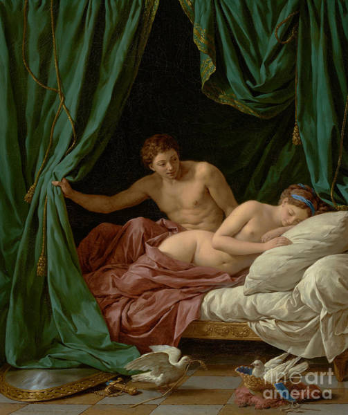 Wall Art - Painting - Mars And Venus, Allegory Of Peace, 1770  by Louis Jean Francois Lagrenee I