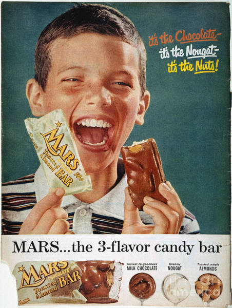 Photograph - Mars Bar Ad, 1957 by Granger