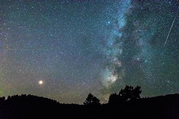 Photograph - Mars - Perseid Meteor - Milky Way by James BO Insogna