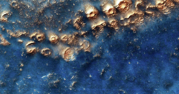 Photograph - Mars Surface Blue And Golden by Matthias Hauser