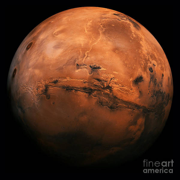 Visit Photograph - Mars The Red Planet by Edward Fielding
