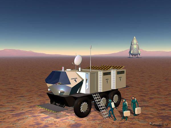 Digital Art - Mars Two by Walter Neal