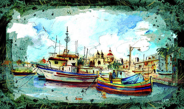 Painting - Marsaxlokk 01 Madness by Miki De Goodaboom