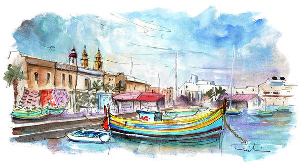Painting - Marsaxlokk 02 by Miki De Goodaboom
