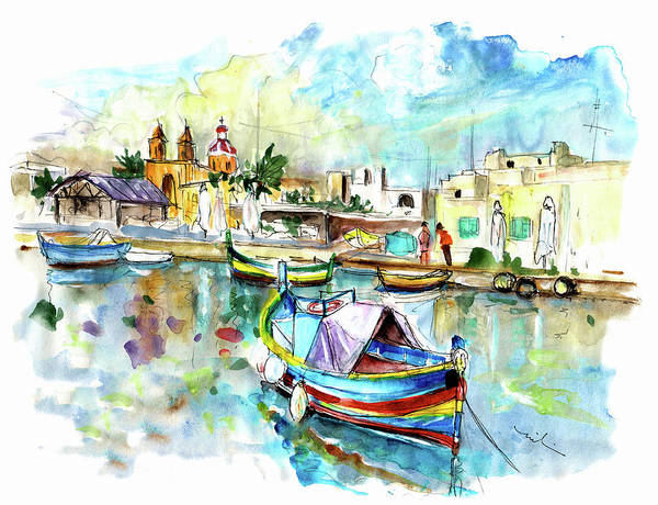 Painting - Marsaxlokk 03 by Miki De Goodaboom