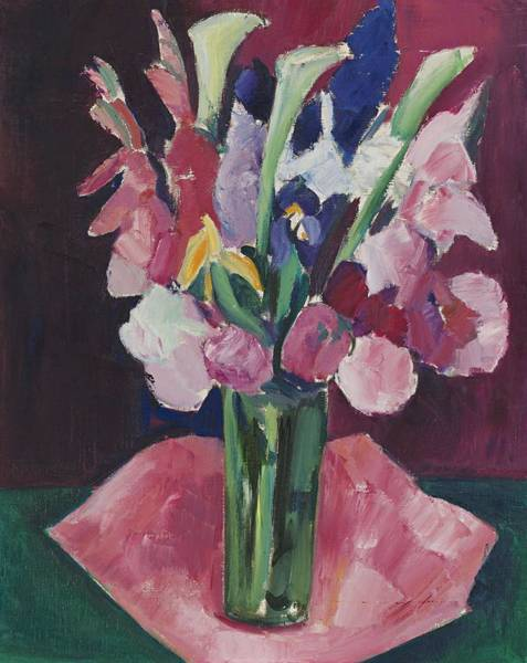 Wall Art - Painting - Marsden Hartley 1877 - 1943 Flowers In A Vase by Marsden Hartley
