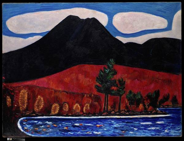 Wall Art - Digital Art - Marsden Hartley    Mt Katahdin Maine Autumn 2 by Mery Moon