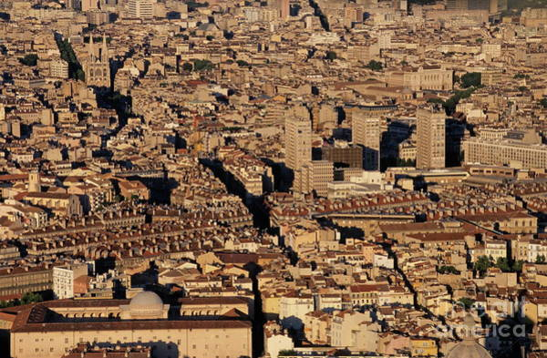 Wall Art - Photograph - Marseille Cityscape At Sunset by Sami Sarkis