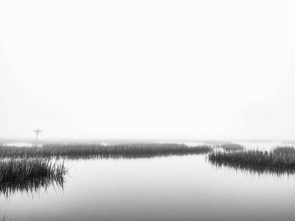 Photograph - Marsh Fog - Black And White Photo Art by Jo Ann Tomaselli