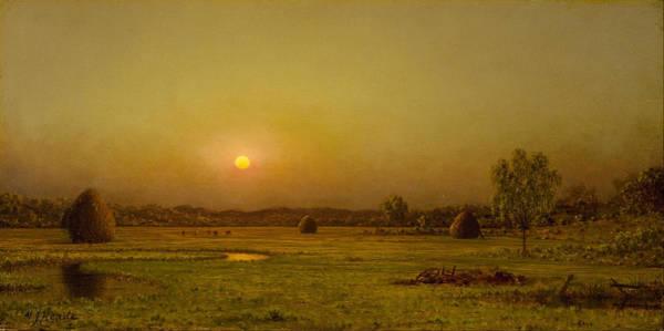 Painting - Marsh Sunset by Martin Johnson Heade