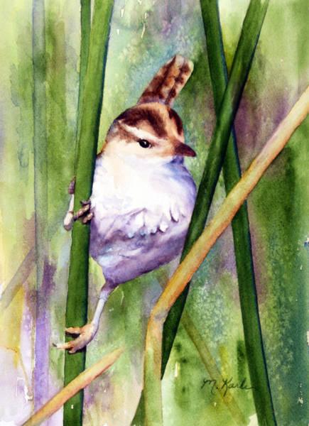 Silver Creek Marsh Wren Art Print