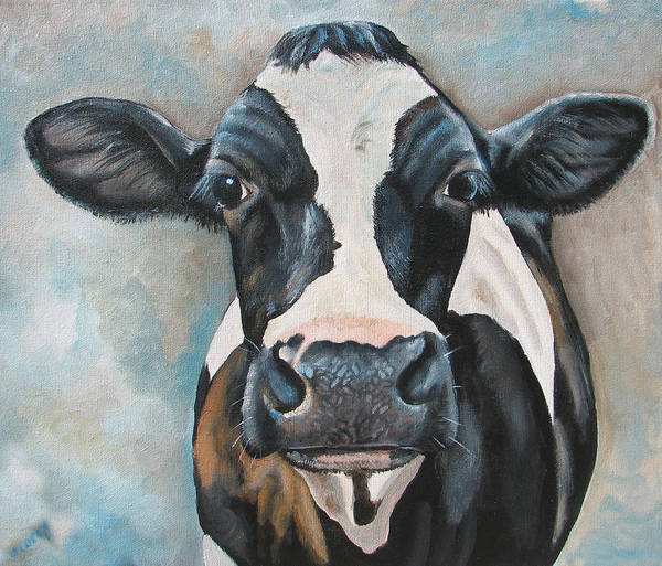 Holstein Wall Art - Painting - Marsha by Laura Carey