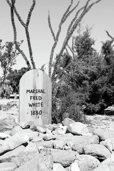 Photograph - Marshal Fred White Tombstone by SR Green