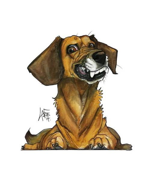 Pet Portrait Drawing - Marshall 3178 by John LaFree