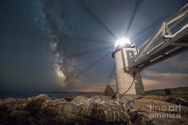 Marshall Point Lighthouse Photograph - Marshall Point Guiding Light  by Michael Ver Sprill