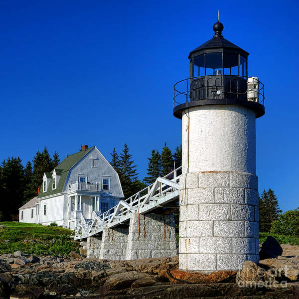 Photograph - Marshall Point Light And Keeper House by Olivier Le Queinec