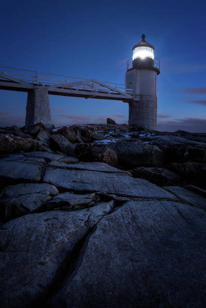 Wall Art - Photograph - Marshall Point Light At Twilight by Jeff Bazinet