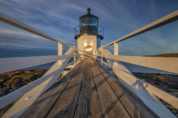 Photograph - Marshall Point Lighthouse At Sunrise by Kristen Wilkinson