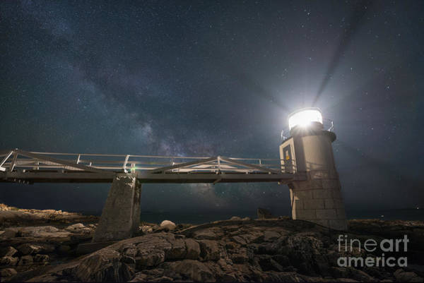 East Point Photograph - Marshall Point Lighthouse Milky Way Rising by Michael Ver Sprill